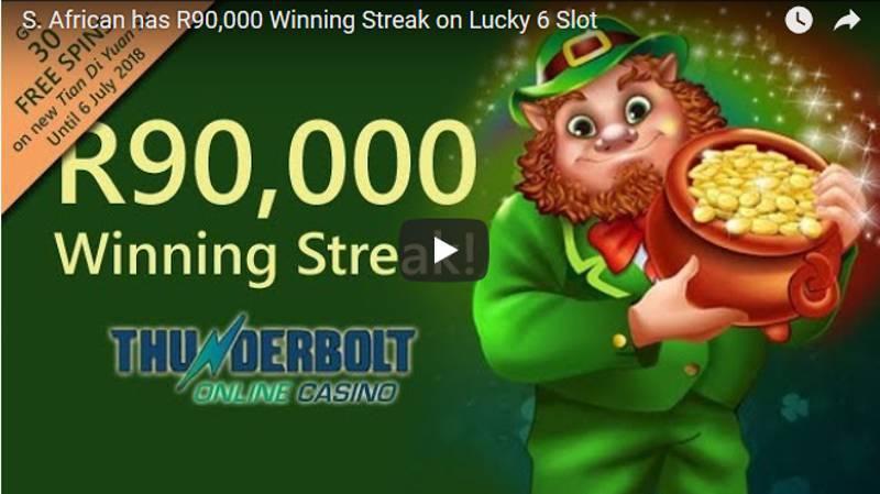 R90,000 Winning Streak at South Africa's Thunderbolt Casino