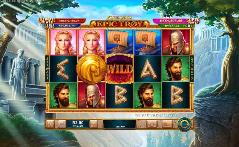Age of the Gods™: Epic Troy a Progressive Jackpot Slot by Playtech
