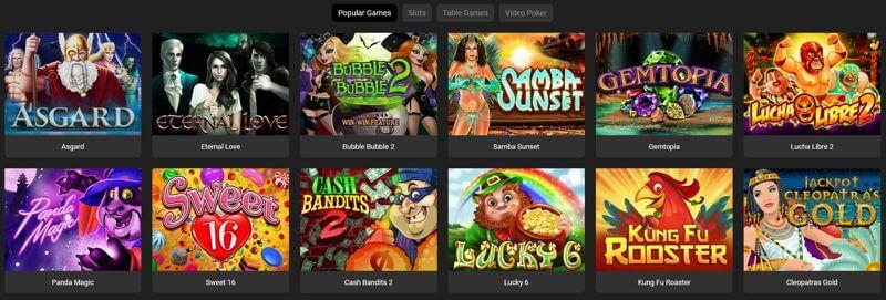 Yebo Casino Popular Games