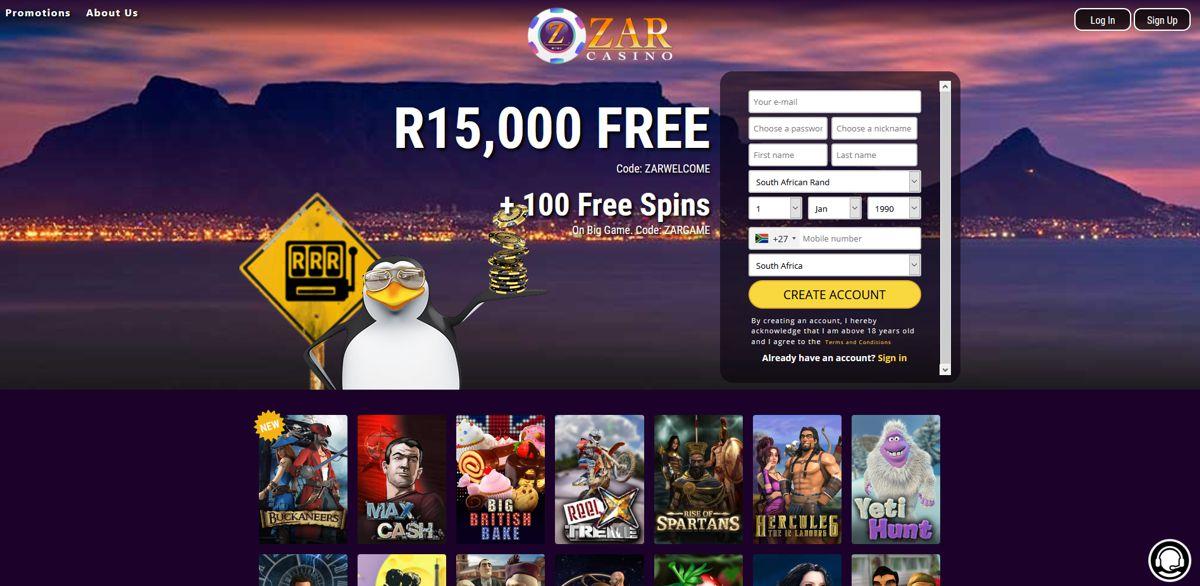 ZAR Casino Website