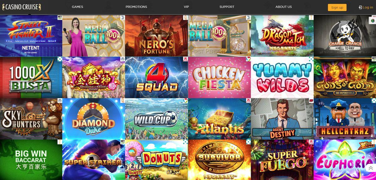 Casino Cruise Popular Games