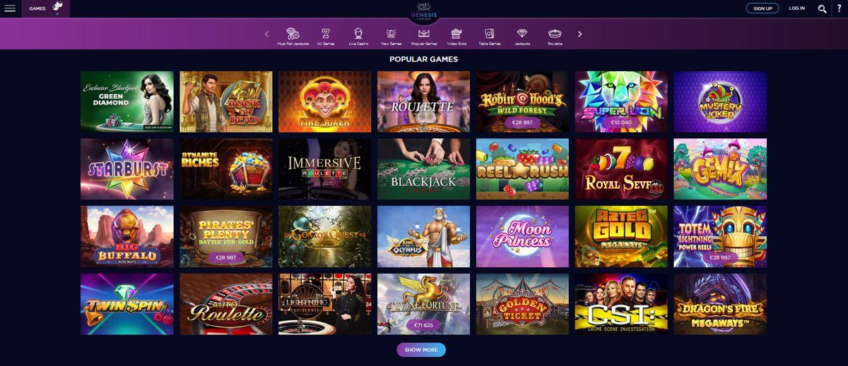 Genesis Casino Review 3