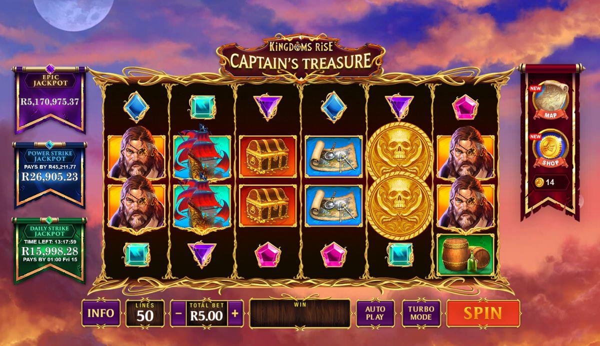 Kingdoms Rise™ Captain's Treasure Progressive Slot by Playtech
