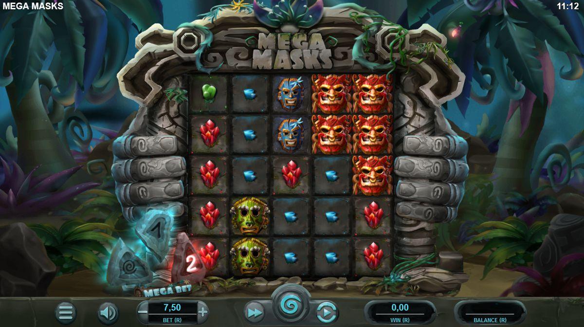 Mega Masks Slot Game Reels