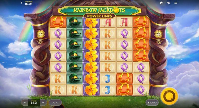 Rainbow Jackpots Power Lines Video Slot Game