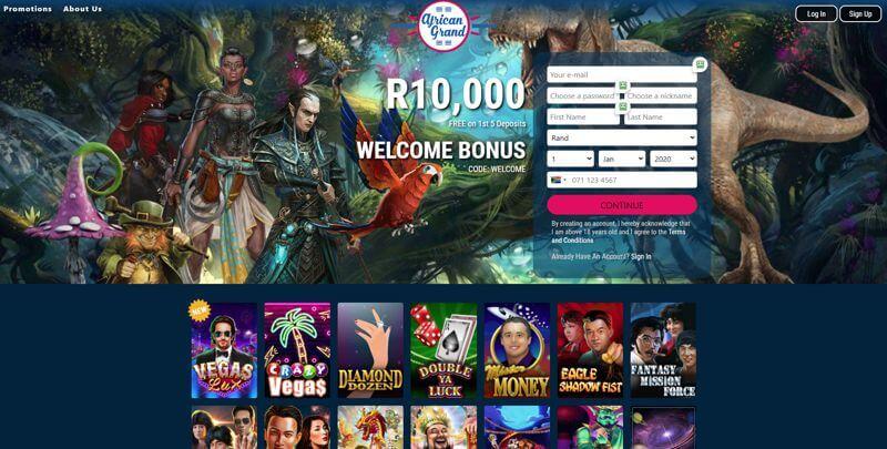 African Grand SA Website