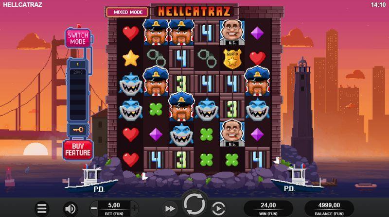 Hellcatraz Slot Game Reels