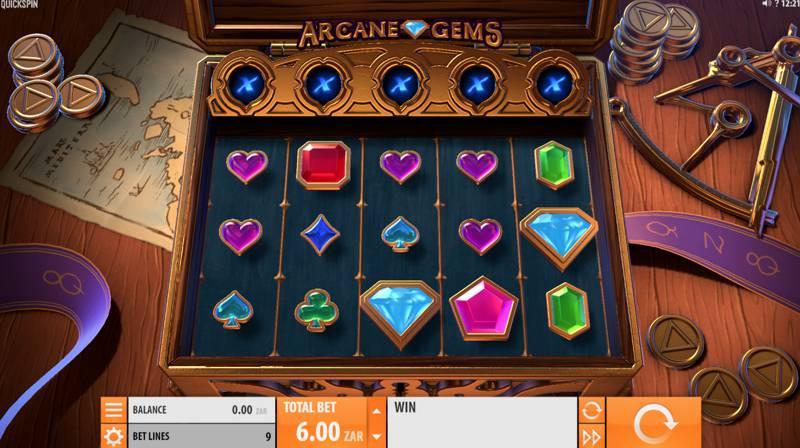 Arcane Gems Slot Game Reels