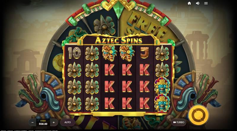 Aztec Spins Reel Layout