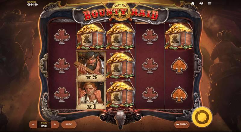 Bounty Raid Slot Game Reels