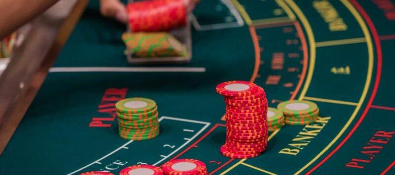 Baccarat Dealer Sorting Casino Chips