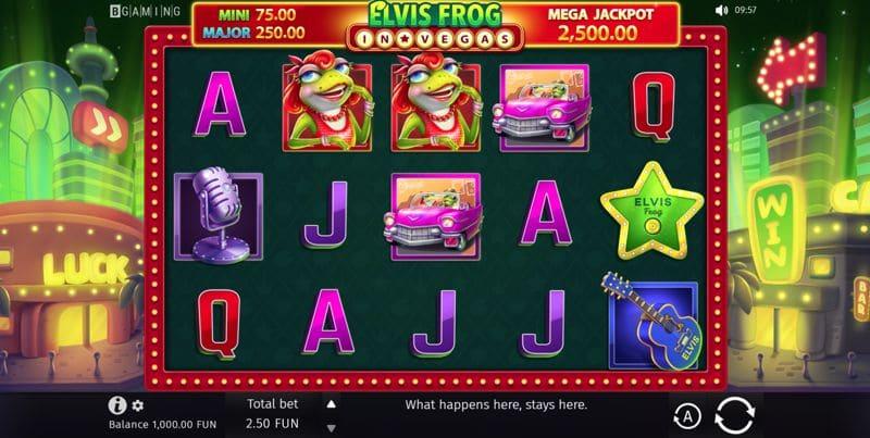 Elvis Frog in Vegas Slot Game Image
