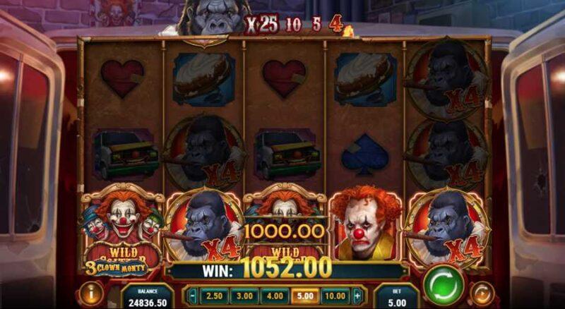 3 Clown Monty Slot Big Win