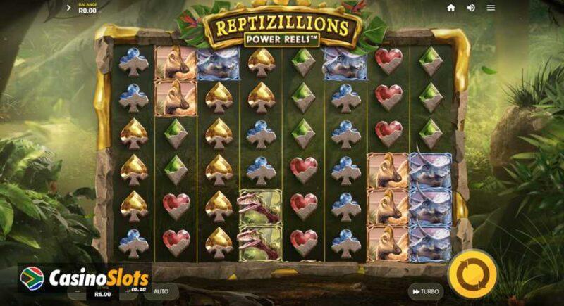 Reptizillions Power Reels Slot Layout