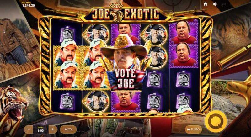 Joe Exotic Slot Game Layout