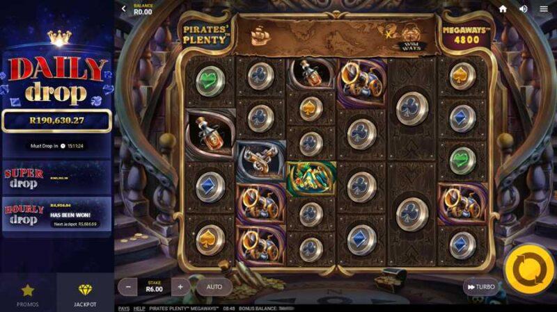 Pirates' Plenty Megaways™ Slot Layout