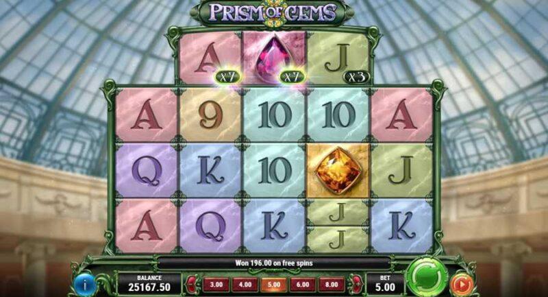 Prism of Gems Slot Game Layout