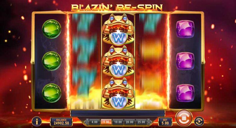 Blazin' Bullfrog Slot Game Layout
