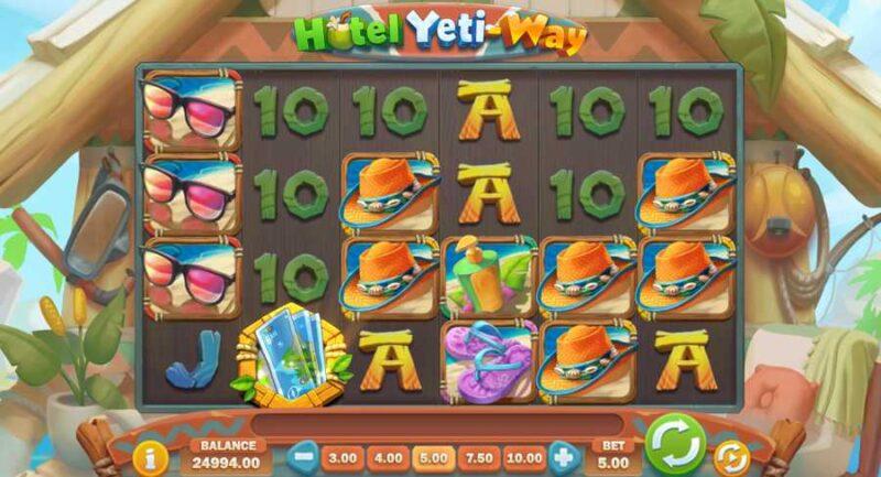 Hotel Yeti-Way Slot Game Layout