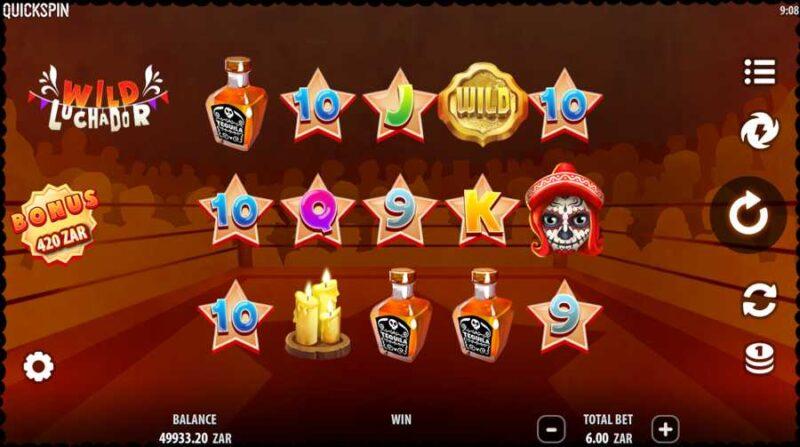 Wild Luchador Slot Game Layout