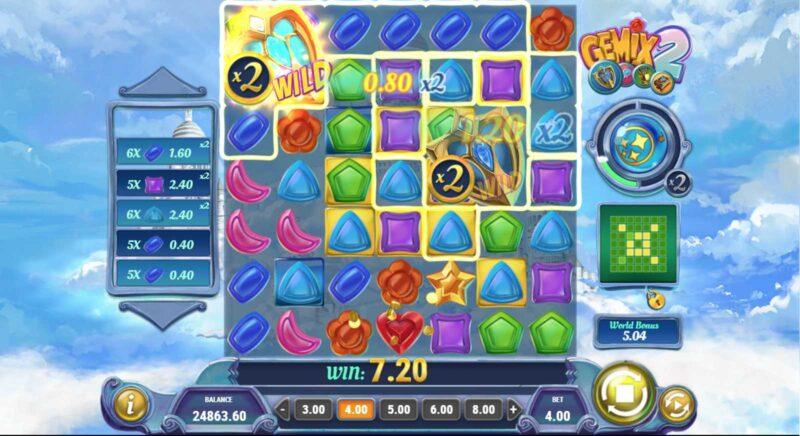 Gemix 2 Slot Game Layout